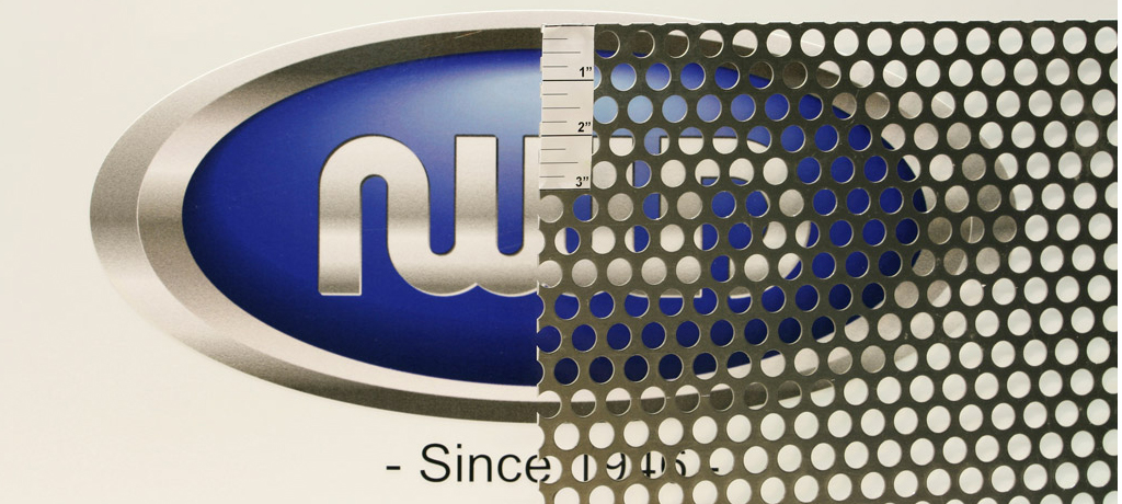 """0.0625"""" Thick, 0.5"""" Dia. Holes, 0.6875"""" Stagger, 48% OA Perforated Mil Finish Aluminum"""